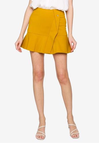 Hopeshow yellow A-Line Mini Skirt 4C421AACA73E84GS_1