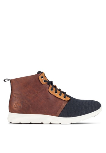 Timberland brown and navy Killington Leather And Fabric Chukka Shoes TI063SH0RFMLMY_1