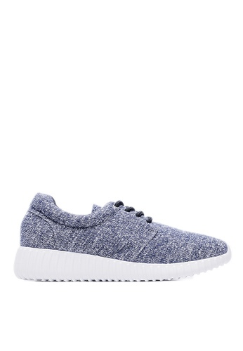 Life8 blue Lightweight Bicolor Knit Casual Shoes-09149-Blue LI283SH33JQGSG_1