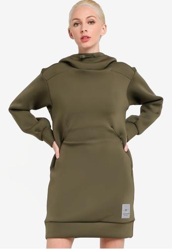 Calvin Klein green Spacer Spacer Hood Long Sleeve Dress - Calvin Klein Performance 19AE2AA01DAF56GS_1