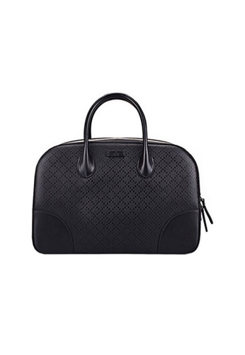 Gucci black GUCCI BRIGHT DIAMANTE LEATHER TOP HANDLE BAG 7125EACF026929GS_1