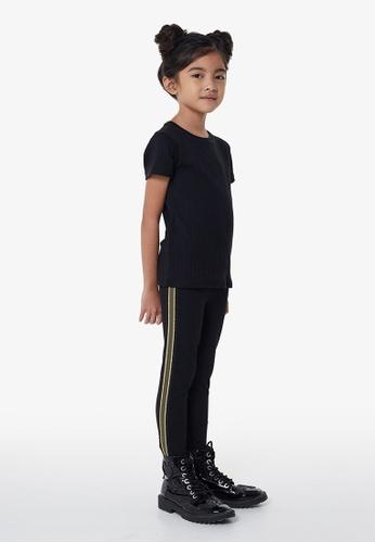 Gen Woo black Black Legging with Side Tape By Gen Woo 97323KA55D0CCBGS_1