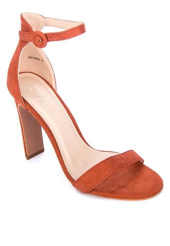ABOUT A GIRL orange Strappy Heels 212D0SH65B4E03GS_1