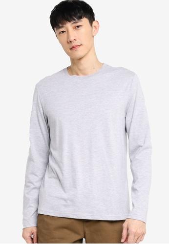 ZALORA BASICS grey Long Sleeve T-Shirt 54920AA973BFD8GS_1