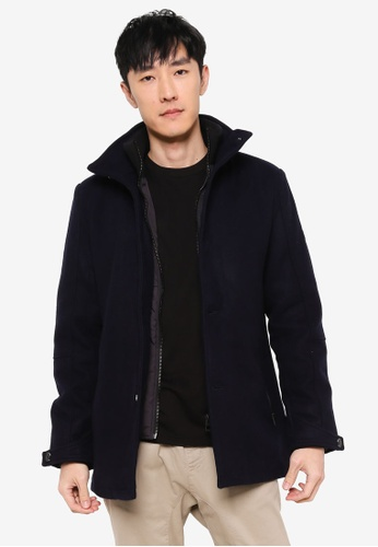 Indicode Jeans navy Clark High Collar Coat E23BDAA46BA446GS_1