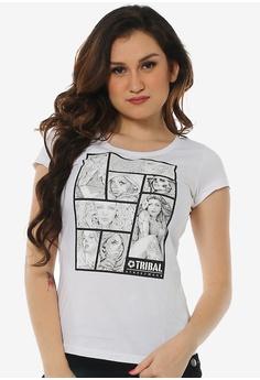 0c0fb22b261a2 Tribal white Women s L-Comix Extend T-shirt 4DE44AA1F43B93GS 1