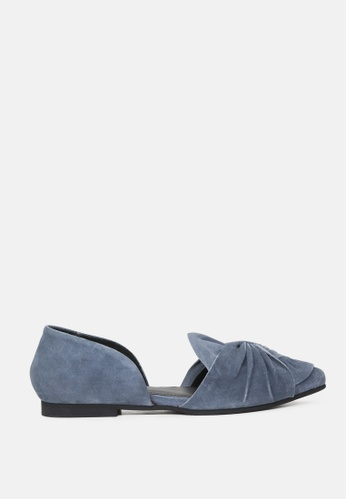 RAG & CO blue Pointed toe knotted shoe 088EASH2337A5AGS_1