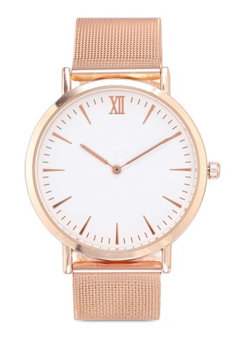 NUVEAU gold Round Face Gold White Mesh Strap Watch B3102AC5461CDDGS_1