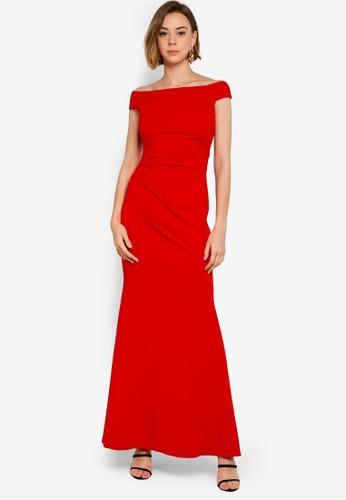 98fc2319c3cd Buy Goddiva Fishtail Maxi Dress With Pleating Detail Online on ZALORA  Singapore