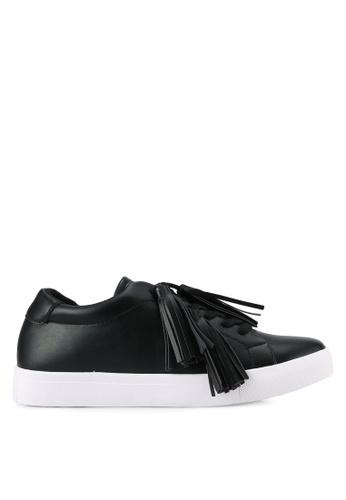 ZALORA black Tassel Sneakers 7C08CSHCC7F528GS_1