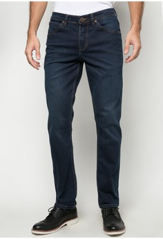 Low Waist Slim Tapered Denim Pants