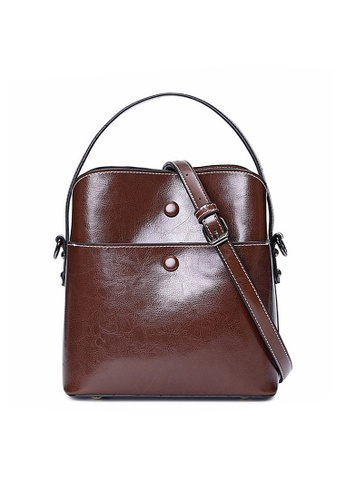 Twenty Eight Shoes brown VANSA Burnished Cow Leather Hand Bag VBW-Hb6333 D4B14AC0F541C9GS_1