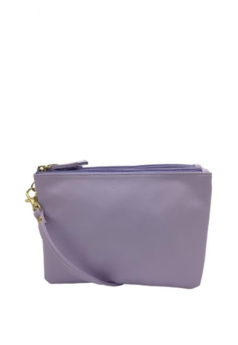 Stylesource purple Sling Bag 3 top zip SS400 ST896AC39GXKPH_1
