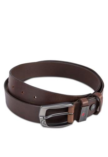 Lumberjacks 扣環皮革esprit專櫃腰帶, 飾品配件, 皮帶