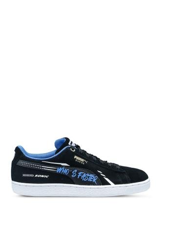 PUMA 黑色 Sega Suede Sonic Jr Shoes 258FFKSF4E6C22GS_1