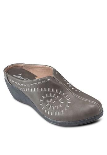 楔型跟經典包頭涼鞋esprit台灣網頁, 女鞋, 鞋