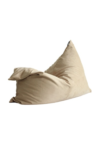 SoftRock beige VESUVIUS – Linen-Style Upholstery and Synthetic Suede Versatile SoftRock Bean Bag (Cosmic Latte) 979C8HL5226B7EGS_1