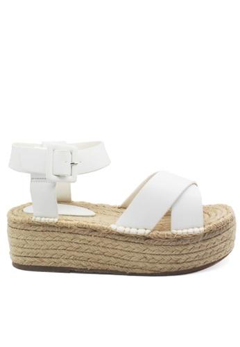 Twenty Eight Shoes white Cross Strap Platform Sandals VM189 TW446SH01LFMHK_1