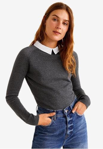 Mango grey Classic Collar Sweater F7991AAA6A4641GS_1