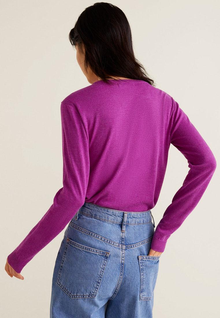 Mango Fine Purple Pastel Cotton Knit Sweater Light TTaqrw
