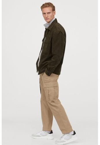 H&M green Corduroy shirt jacket 35848AA9A35E59GS_1