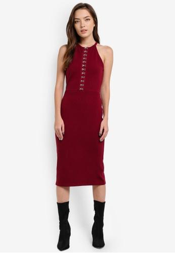 Something Borrowed red Sleeveless Hook-On Dress E529EAAF066001GS_1