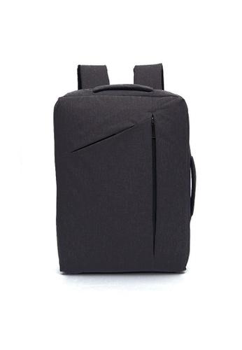A FRENZ black Convertible Multi-functional2in1 Waterproof LaptopBriefcaseBackpack 70C56AC3812D3FGS_1