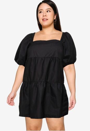 MISSGUIDED black Plus Size Smock Dress B7FBEAA04A74B0GS_1