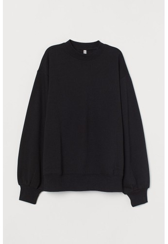 H&M black Oversized sweatshirt E8ABBAA2383BB8GS_1