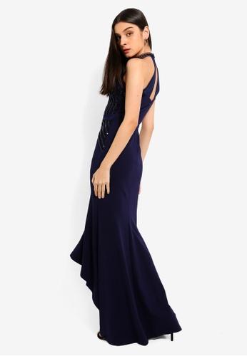 92a5fe0b07 Buy Lipsy Navy Heritage Maxi Dress Online on ZALORA Singapore