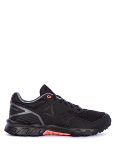 competitive price 14645 88e72 Reebok black Ridgerider Trail 4.0 Sneakers 76B51SHA8D86E1GS 1