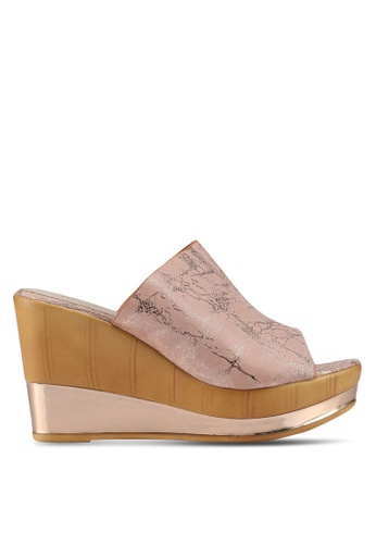 Carlton London pink Mule Heels F3D8ESH733B36DGS_1