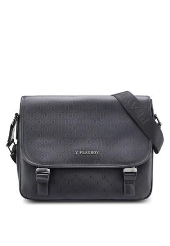 Playboy black Playboy Messenger Bag PL371AC03MSUMY_1