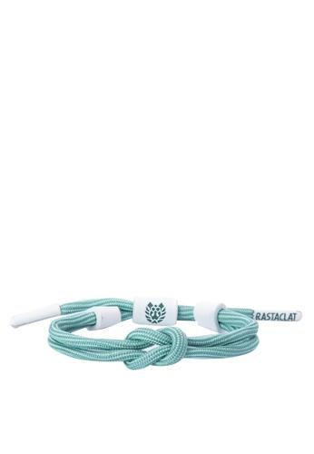 Rastaclat white and blue Knotaclat Bracelet: Phosphene RA072AC0JT2RPH_1