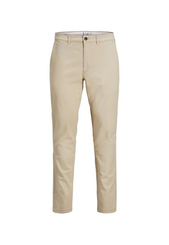 Jack & Jones beige Marco Dave Chino Pants 4BB4EAAFA462BCGS_1