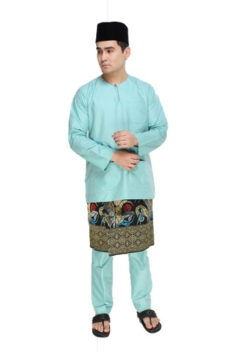 Amar Amran green Baju Melayu Teluk Belanga 6C82FAA26EEB68GS_1