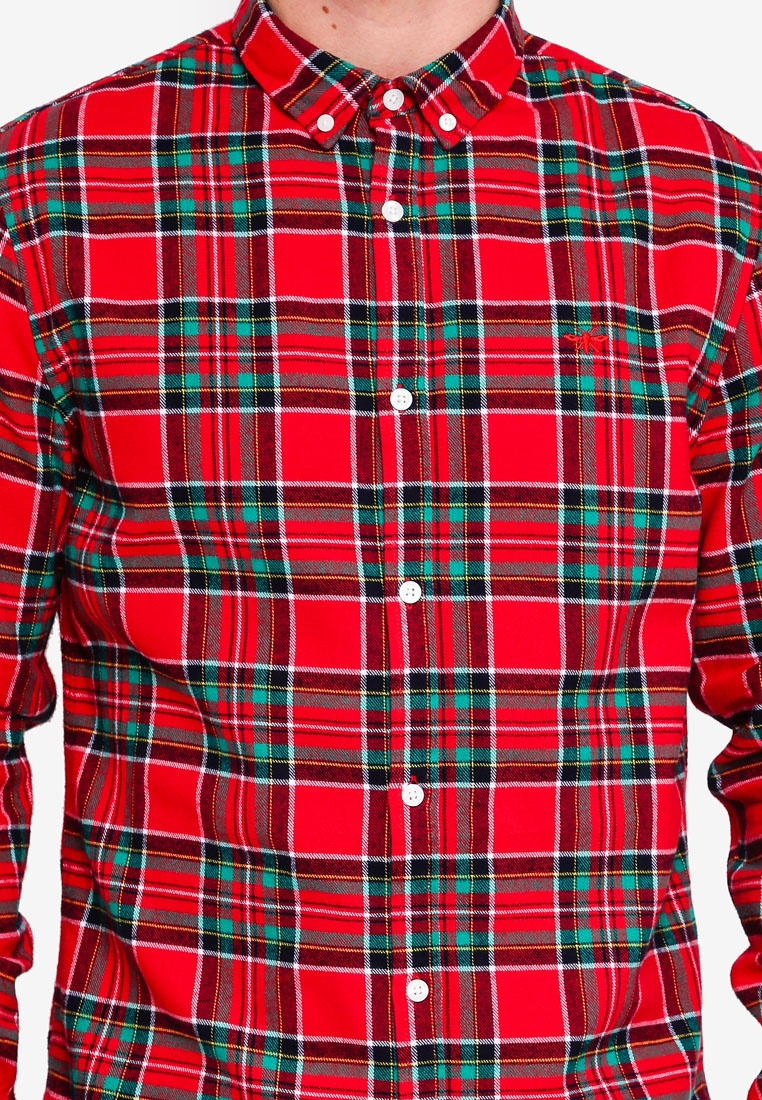 Shirt River Island Red Red Check Bw1q74xf