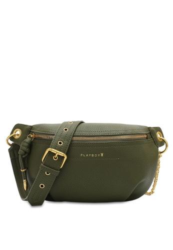 PLAYBOY BUNNY 綠色 Chain Belt Bag DF539AC55237A4GS_1