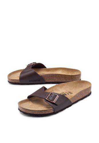 Birkenstock brown Madrid Birko-Flor Sandals AF34ESH04C6689GS_1