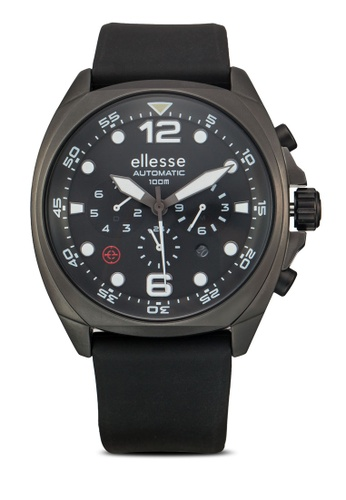 ellesse black Men's Automatic Chronograph Watch EL595AC76ZYDSG_1