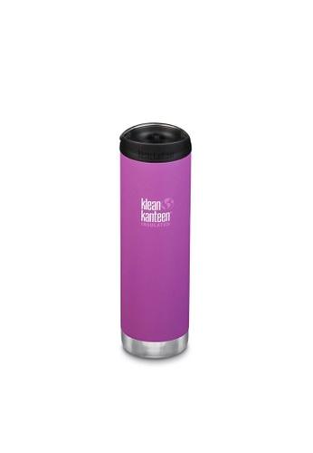 Klean Kanteen purple Klean Kanteen Tkwide 20Oz Water Bottle (With Cafe Cap) (Berry Bright) BCF55AC3AF9A00GS_1