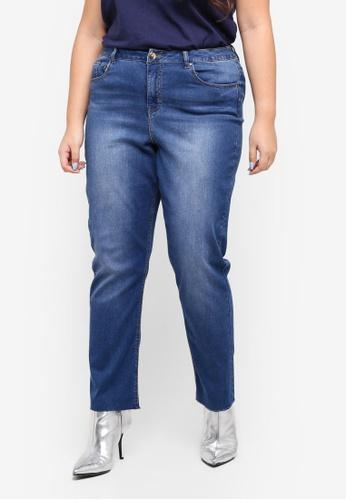 Dorothy Perkins blue Plus Size Light Midwash Boyfriend Jeans 8A222AA8FF0BD7GS_1