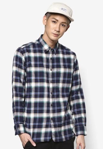 格紋休閒長袖襯衫, 服飾esprit outlet 台灣, 格紋襯衫