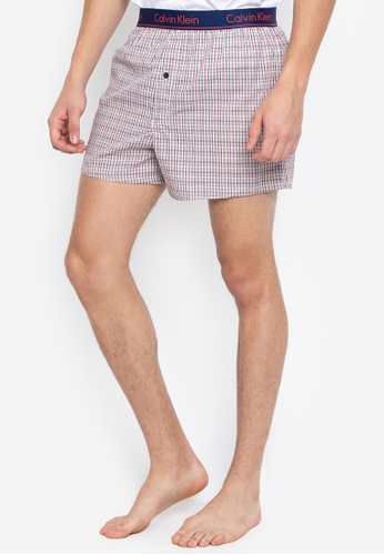 Calvin Klein brown Slim Fit Woven Boxers D434DUS1669427GS_1