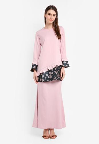 Gene Martino pink Lily Lace Kurung Modern F7C55AAE596C06GS_1