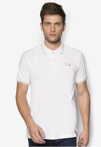 條紋邊飾Pesprit 內衣OLO 衫, 服飾, Polo衫