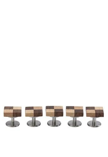 木製格紋鈕扣組合, 飾品配件,esprit高雄門市 首飾