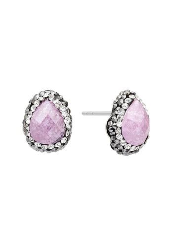 Fervor Montreal pink Fervor Montreal-Druzy Earrings Pear CE485ACEC17B72GS_1