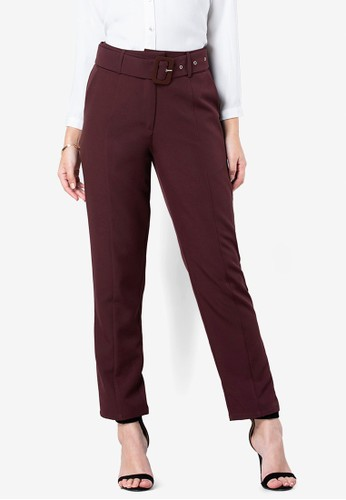 FabAlley purple Belted Formal Trousers FE6A0AA57C01C4GS_1