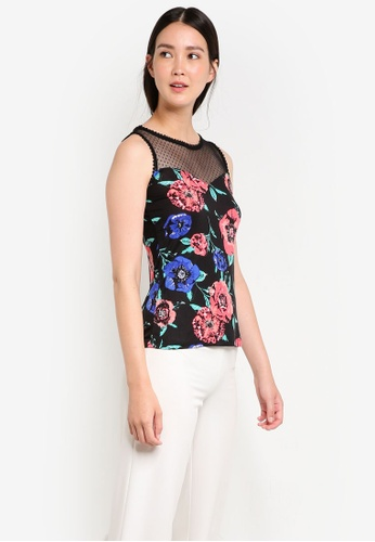 Dorothy Perkins black Petite Floral Lace Shell Top DO816AA17GVIMY_1